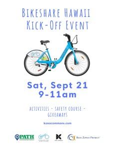 Bikeshare Hawaii Kick-Off Event  @ Kona Commons