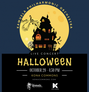 Kamuela Philharmonic Orchestra Halloween Concert @ Kona Commons Shopping Center